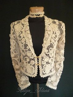 Irish crochet jacket