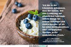 Ernährung ist die erste Medizin! Ein gutes Leben mit Diabetes Typ 2 ist möglich! Diabetes Mellitus, Acai Bowl, Breakfast, Food, Good Life, Medical, Food Recipes, Acai Berry Bowl, Morning Coffee