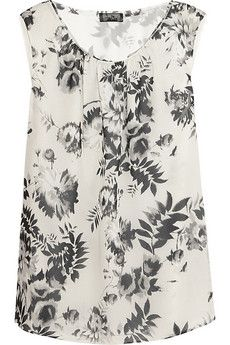 Giambattista Valli | Floral-print silk-georgette top