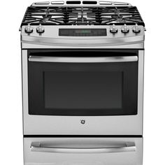 Shop GE Profile 5-Burner 5.6-cu ft Self-Cleaning Slide-In Convection Gas Range (Stainless Steel) (Common: 30-in; Actual: 30-in) at Lowes.com