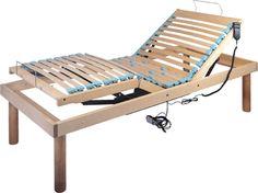 piano letto in legno di faggio con doppia alzata testa/piedi elettrica