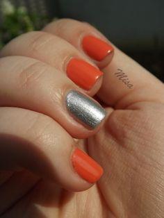 Coral & silver