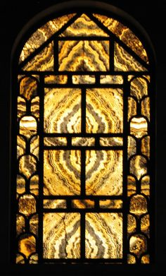 alabaster windows - these are what were used before stained glass