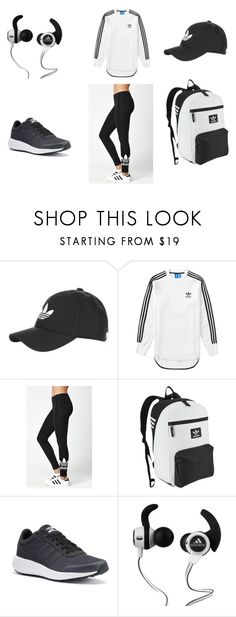 """Sem título #505"" by drika-rickwardt ❤ liked on Polyvore featuring Topshop, adidas, adidas Originals and Monster"