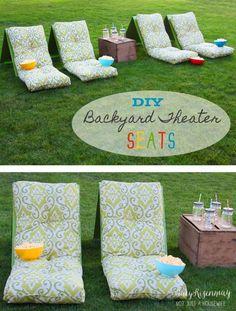 DIY Ideas to Get Your Backyard Ready for Summer - DIY Backyard Theater Seats…