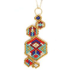 "Collier mi-long ethnique chic ""Hexa Colors"""