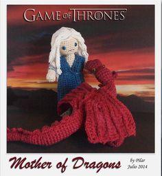 #amigurumi #gameofthrones Daenerys Drogon