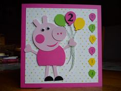Handmade Peppa Pig Birthday Card I Made For My Friends Granddaughter Cards