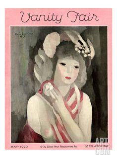 Vanity Fair Cover - May 1929 Regular Giclee Print by Marie Laurencin at Art.com