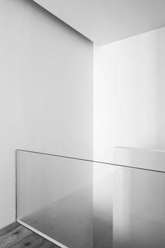 Clear glass balustrade.., basement...