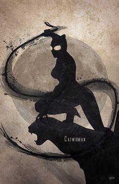 Marvel and DC inspired superhero splatter art prints. 'Catwoman' by Digital Theory Catwoman Cosplay, Batman Und Catwoman, Batgirl, Comic Book Characters, Comic Character, Comic Books Art, Comic Art, Dc Comics, Gotham Girls