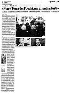 Il Mattino - In relazione all'evento http://www.forumambientale.org/event-view/dallirpinia-alla-valle-del-sele-terre-da-avvelenare-o-salvaguardare/