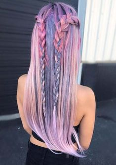 Trendy Hair Color Crazy Pastel Braids 23 Ideas - Most stylish hairstyles Cute Hair Colors, Beautiful Hair Color, Hair Dye Colors, Cool Hair Color, Pretty Hair, Summer Hair Colour, Summer Hair Color For Brunettes, Loose Hairstyles, Summer Hairstyles