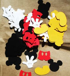 FREE SHIPPING  Mickey Mouse confetti, custom colors available by Nannie2five on Etsy https://www.etsy.com/listing/187413584/free-shipping-mickey-mouse-confetti