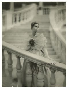 Grace Kelly autographed photograph, 1960. From the John Wanamaker collection of celebrity autographs. She is congratulating Wanamaker's on their 100 year anniversary. Your fashion moment for the day.   Wearing a gown by Maggy Rouff. :)