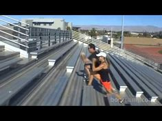 """Hit the track with me! For more FREE video """"Fit-spiration"""" workouts, sign up for my email newsletter at http://www.bootcampcoach.com/"""
