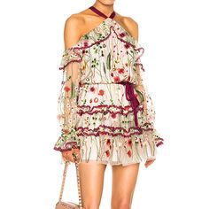 HIGH QUALITY Newest 2017 Designer Dress Runway Dress Women's Halter Neck Stunning Embroidery Gauze Dress -  Cheap Product is Available. We give you the information of finest and low cost which integrated super save shipping for HIGH QUALITY Newest 2017 Designer Dress Runway Dress Women's Halter Neck Stunning Embroidery Gauze Dress or any product.  I think you are very lucky To be Get HIGH QUALITY Newest 2017 Designer Dress Runway Dress Women's Halter Neck Stunning Embroidery Gauze Dress in…