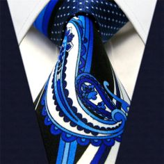 Black & Blue Paisley - Neckties Only Collection - NTO-D39 >>>$14.95 w/ Free shipping @ NecktiesOnly.com