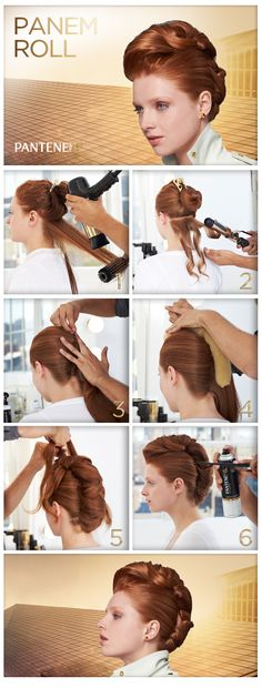 DIY Halloween hairstyle Halloween hair ideas: The Hunger Games Panem-inspired Roll Creative Hairstyles, Up Hairstyles, Hair Growth Shampoo, Roll Hairstyle, About Hair, Hair Dos, Cut And Color, Couture, Healthy Hair