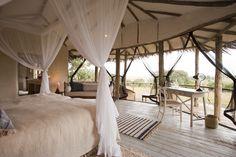 A bedroom at Lamai Serengeti
