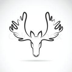 fcf2b5564 Design sign Moose Head Trophy drawing animal wall art designed by Antoine  Tes-Ted X Hu2 Design | Tattoos | Tatuajes, Alce, Diseños geométricos