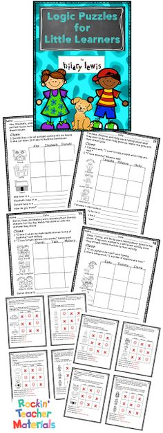 this year, I wanted to get my math kids thinking logically early on, but I couldn't seem to find any good 2nd-3rd grade friendly logic puzzles ... #TpT