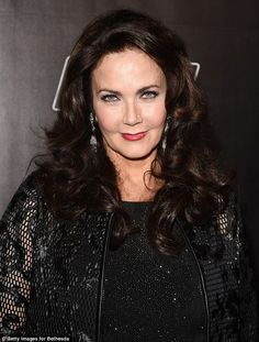 Launch party 62 yo Lynda Carter wore a lacy all-black ensemble on Thursday to the Fallout 4 laun...