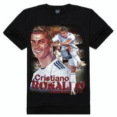 36b779d89 Cristiano Ronaldo Short Sleeve T shirt Men's Black Personalized Adult Tee  Shirts M