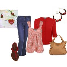 stunning in red, created by butterfly285 on Polyvore