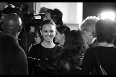 Natalie Portman in classic black and white