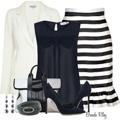 """""""Navy and White"""" by brendariley-1 on Polyvore"""
