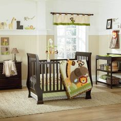Primebabies - Kulala 4 Piece Baby Crib Bedding Set by Nojo, $149.95 (http://www.primebabies.com/kulala-4-piece-baby-crib-bedding-set-by-nojo/)