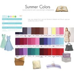 People with a summer (light, soft and cool) complexion will find that most of the colors on this chart will suit them and make them look their best.  Summer's u...