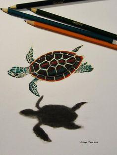 Baby Sea Turtle ©Shayla Tansey 2014 Wabi Sabi, Original Artwork, Turtle, Sketches, Drawings, Painting, Animals, Inspiration, Google Search