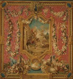 Woven at the Gobelins tapestry manufactory, Paris, 1699 - present - Tapestry showing Don Quixote Guided by Folly, Setting Forth to be a Knight-Errant