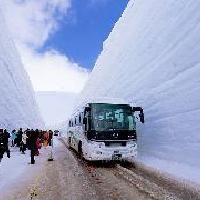 Towering over 50 feet high at times, this gigantic snow path called the Tateyama Kurobe Route is open to sightseers shuttled in on trolley busses from mid April to late May.