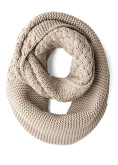 Modcloth Beige Outdoor Movie Circle Scarf in Wheat