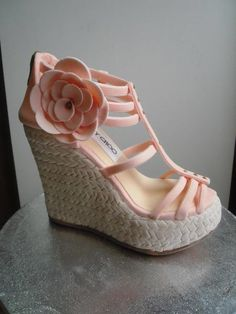 This is one shoe you can't wear...because it's a CAKE! Jimmy Choo Wedge Sandal.