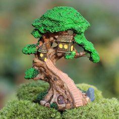 Venda de resina de madeira artificial mini plantas de jardim anão terrarium decoração artesanato bonsai musgo de jardim(Mainland))