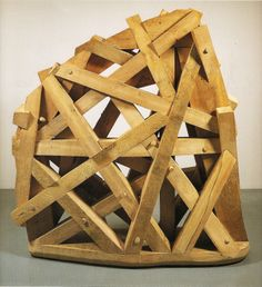 """Martin Puryear [USA] (b 1941) """"Thicket"""", 1990. Basswood and cypress (170 x 157 x 43 cm)"""