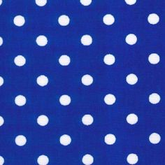 POLKA DOT FABRIC 5mm(approx) WHITE SPOTS ON ROYALBLUE BACKGROUND 100% COTTON