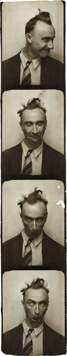 Yves Tanguy. 'Selfportrait in a Photobooth' ca. 1929