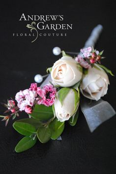 Wedding Boutonniere by Andrew's Garden