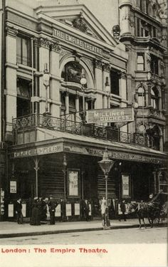 Façade of the Empire Theatre, London, 1903
