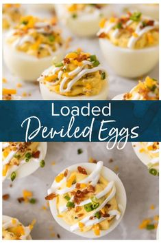 This DEVILED EGG RECIPE is filled with the flavors of a Loaded Baked Potato, smothered in a mixture of cheese, … Bacon Recipes, Appetizer Recipes, Crockpot Recipes, Healthy Recipes, Cooking Recipes, Recipes Dinner, Holiday Appetizers, Devilled Eggs Recipe Best, Deviled Eggs With Cream Cheese Recipe