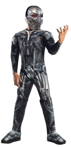 Avengers 2 - Age of Ultron: Deluxe Ultron Costume For Kids from BirthdayExpress.com