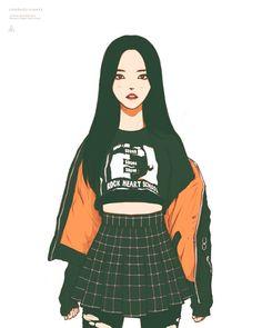 """ΔPOLO°13 on Twitter: """"Hyejoo 180417 #이달의소녀 #올리비아혜 #Egoist #LOONA #OliviaHye @loonatheworld… """" Aesthetic Art, Aesthetic Anime, Japon Illustration, Cute Art Styles, Kpop Fanart, Anime Outfits, Pretty Art, Anime Art Girl, Cartoon Art"""