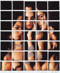 """Monica Bellucci-""""Maurizio Galimberti's portraits of celebrities by making Polaroid grids"""" said another pinner- for sale at dillon gallery Concept Photography, Photography Illustration, Film Photography, Amazing Photography, Timeless Photography, Polaroid Collage, Monica Bellucci, Photo Mosaic, Photo Displays"""