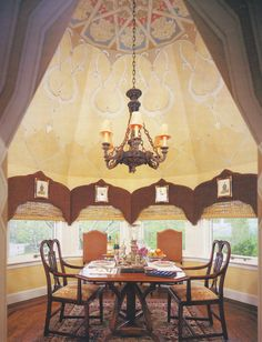 beautiful decorative painted ceiling