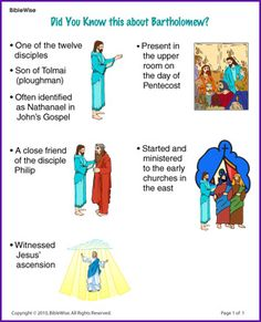 Did You Know this about Bartholomew (Story) - Kids Korner - BibleWise